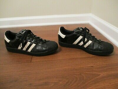 best website fa934 23959 Used Worn Size 11 Adidas Superstar Shoes Black  White