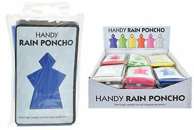 Handy Rain Poncho Coat Adult Festival Camping Travel Emergency Waterproof Cover