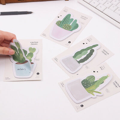 Cute Cactus Vegetation Notebooks Writing Memo Pad Office Sticky School Supplies