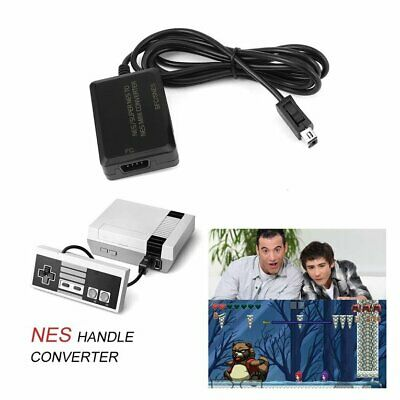 Game Controller Adapter Adaptor For NES Super SNES to Wii NES Mini Gamepad HKES