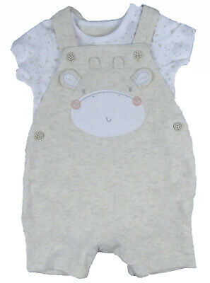 Baby Unisex Short Dungarees Set ex Motherc**e 1 Month up to 18 month