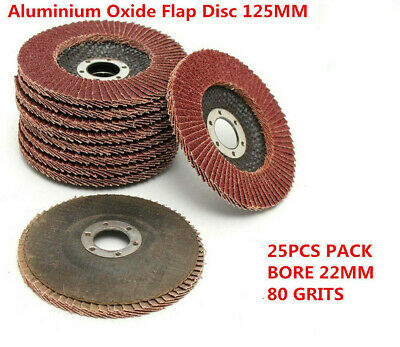 "10Pcs 125MM 5/"" Aluminum Oxide Flap Discs Sanding Grinding Wheels 22MM Bore 80#"