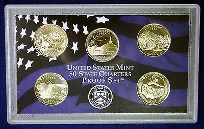 2006 US Mint 50 State Quarters Proof Set As Pictured