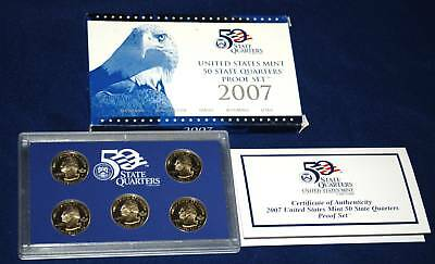 2007  U.S. Mint Made STATE QUARTERS Proof Set