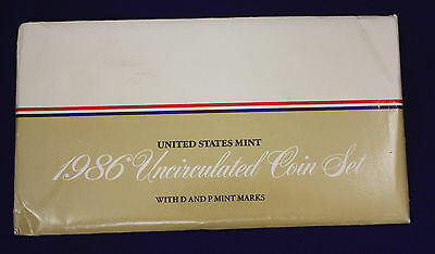 1986 UNCIRCULATED Genuine U.S. MINT SETS ISSUED BY U.S. MINT