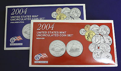 2004 UNCIRCULATED Genuine U.S. MINT SETS ISSUED BY U.S. MINT