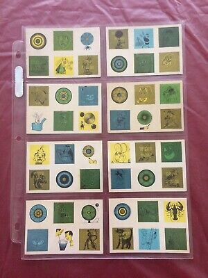 Bowman 1955 Lenticular Magic Pictures Complete 40 Card Set Plus Lens and Wrapper
