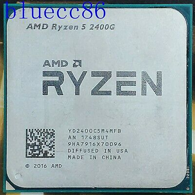 AMD RYZEN 5 2400G Quad-Core 3.9GHz Turbo Socket AM4 Desktop CPU Processor