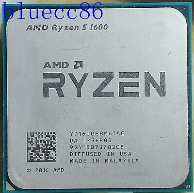 AMD RYZEN 5 1600 6-Core 3.2 GHz ocket AM4 CPU Processors