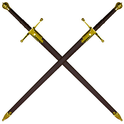 Sir William Wallace Sword Gold 52 Inch Historically Correct Brave heart sword