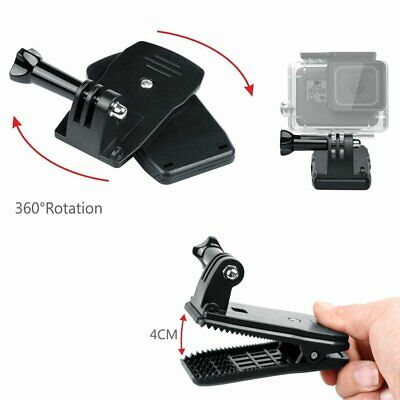360° Rotation Backpack Hat Rec-Mounts Clip Clamp for GoPro Hero 7 6 5 4 3+ 3 2 1