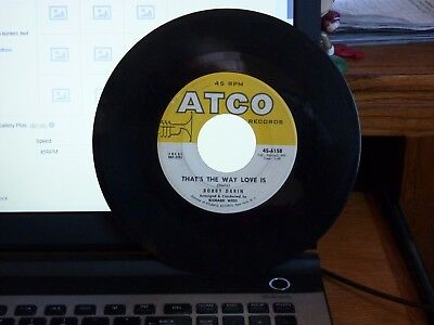 45 Bobby Darin Beyond The Sea / That's The Way Love Is Atco 45-6158 Vg++
