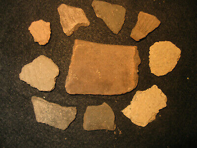 Prehistoric Fort Walton Florida Pottery Shards, Ancient Indian Artifacts, #1