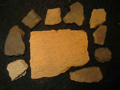 Prehistoric Fort Walton Florida Pottery Shards, Ancient Indian Artifacts, #3