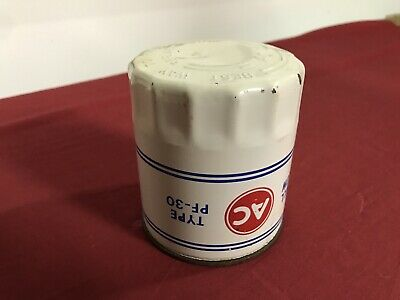 Nos Ac Pf-30 Embossed Oil Filter Oldsmobile 442 W30 White Assembly Line