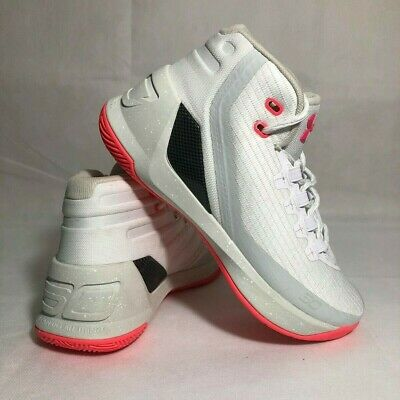 a59152d7b4fe NEW Under Armour Curry 3 Basketball Shoes White Pink Women s SZ 7.5 MEN S  Sz 6Y