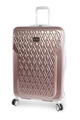 BEBE Rose Gold 29 in Hardside Spinner Suitcase Luggage Wheeled Pink Travel Size