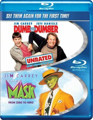 THE MASK + DUMB AND DUMBER New Sealed Blu-ray Double Feature Jim Carrey