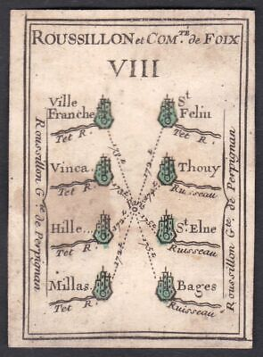 1780 Roussillon Foix France carte a jouer playing card Spielkarte cards cartes
