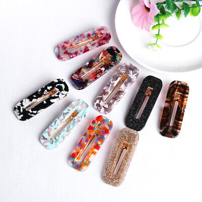 Women Vintage Leopard Hair Clip Bobby Pin Hairband Hairpin Barrette Comb Acetate