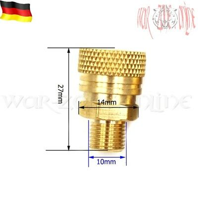 PCP Paintball Pneumatic 300bar Quick Coupler 8mm Schnellkupplung Male Thread M10