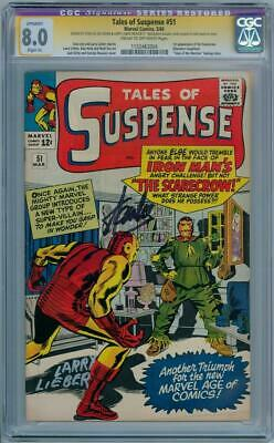 TALES OF SUSPENSE #51 CGC 8.0 SIGNATURE SERIES SIGNED x2 STAN LEE 1ST SCARECROW
