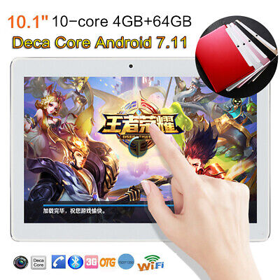 """10.1""""Tablet PC Android 7.11 Octa-Core 4G+64G Dual SIM &Camera Phone Wifi Phablet"""