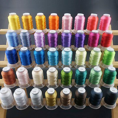 40 Brother Colours Polyester Sewing & Embroidery Machine Thread 500M Each-40WT