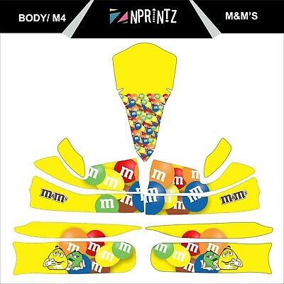 M4 M&M's  Full Kart Sticker Kit - Karting - Otk - Evk M4