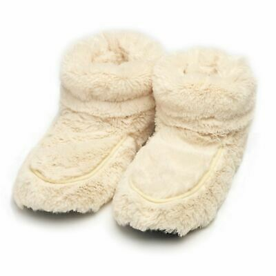 3de44189a4f Intelex Cozy Microwavable Boots Cream Heatable Luxury Furry Bed Warmer  Slippers