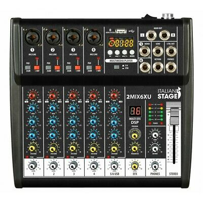 Italian Stage Is 2Mix6Xu Mixer 6 Canali Con Ingresso Usb Bluetooth By Proel