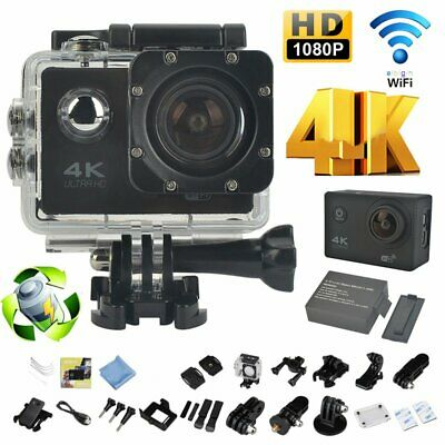 "4K 16MP 2"" UHD 1080P ActionCam Sport Kamera DV Helmkamera Video Wasserdicht WIFI"