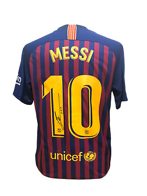 Lionel Messi Signed Barcelona 2018/19  Football Shirt With Coa & Proof