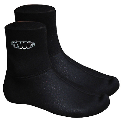 TWF 3mm Neoprene Childrens Kids & Adults Watersport Mausered Sox Wet Shoes Socks