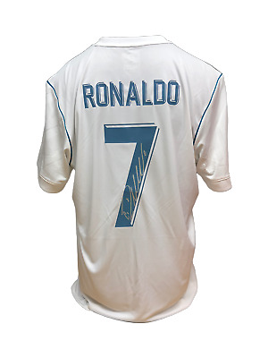 Cristiano Ronaldo Signed Real Madrid 2017/18 Football Shirt With Coa & Proof