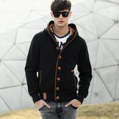 warm spring mens student youth cotton jacket shirt fleece 5 colors m-3xl leisure