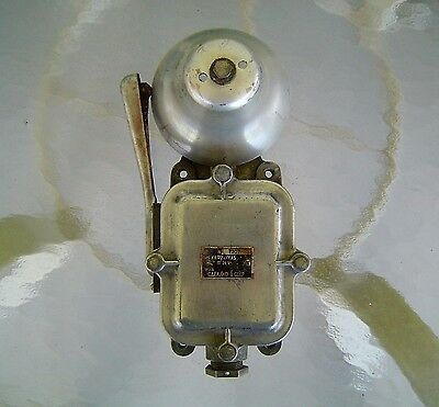 Original Salvaged Aluminum And Iron Russian Alarm Bell