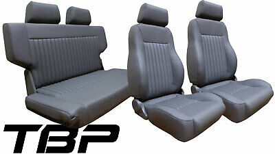 Cool 1966 1977 Early Ford Bronco Black Front Rear Seat Kit Uwap Interior Chair Design Uwaporg