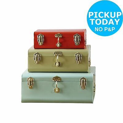 Habitat Set of 3 Storage Trunks - Multicoloured
