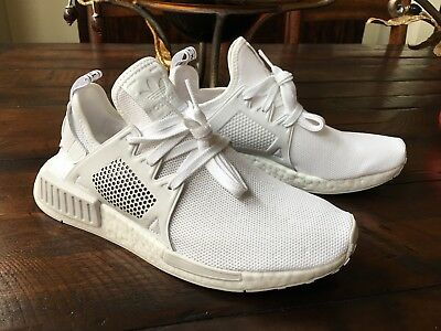 fb34b4acbfdac New Adidas By9922 Nmd Xr1 Triple White Boost Running Shoes Us 9 100%  Authentic