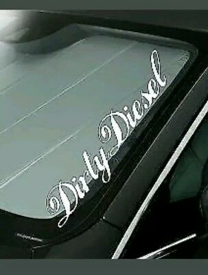 Dirty Diesel Windscreen Sticker Car Decal Vehicle Front Window Rear m130