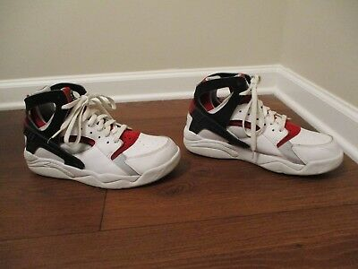 95dc6c4777c Classic 2003 Used Worn Size 11 Nike Air Flight Huarache Shoes White Black  Red