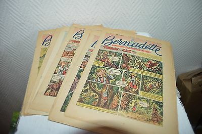 Lot 10 Magazine Bd Bernadette Illustre Catholique Des Filette 1954 Tombe Du Ciel