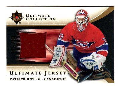 Patrick Roy Nhl 2005-06 Ultimate Collection Jerseys Red (Canadiens,avalanche)