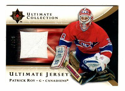 Patrick Roy Nhl 2005-06 Ultimate Collection Jerseys White (Canadiens,avalanche)