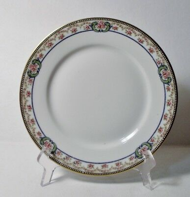 """4 Theodore Haviland Limoges France ESSEX (Gold Trim) 8-5/8"""" Luncheon Plates"""