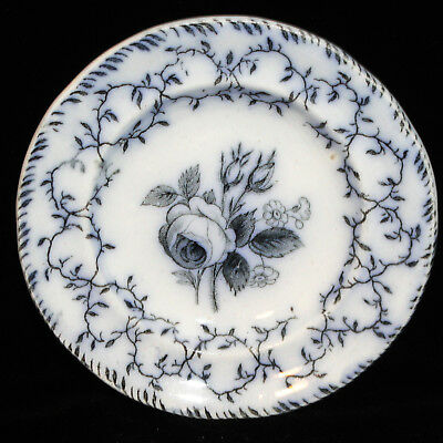 Childs Flow Blue Mulberry Dinner Set Plate MOSS ROSE 1850 Meigh Staffordshire