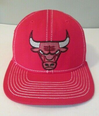 38bd5e203c3 Chicago Bulls Vintage 90s Adidas Snapback Hat Red Embroidered Logo Cap