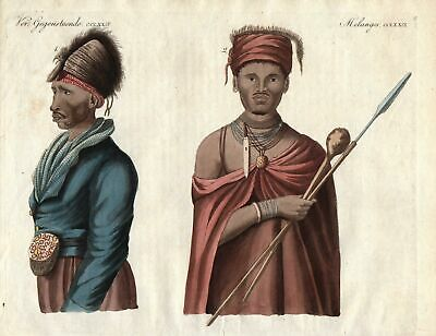 Hottentot Kora Khora Eingeboren natives Südafrika South Africa Bertuch 1800