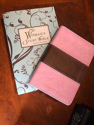 NKJV THE WOMAN'S Study Bible AND KJV Compact ultrathin pink/brown BRAND NEW